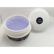 Гель для наращивания ногтей Ice violet прозрачный