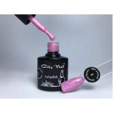 Гель-лак с белыми крапинками City Nail серия Candy Breeze розовый 10мл арт.Гл-к-2-10