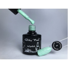 Мятный гельлак с вкраплениями CityNail Candy Breeze светло-зеленый 6мл арт.Гл-к-5-6