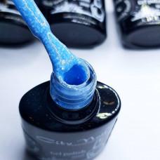 Гель лак голубой с вкраплениями City Nail серия Candy Breeze 6мл арт.Гл-к-4-6