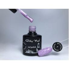 Гель-лак сиреневый с белыми крапинками City Nail Candy Breeze 6мл арт.Гл-к-1-6