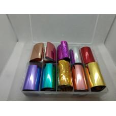Набор для декора ногтей ( Набор переводной фольги в пластиковом боксе )