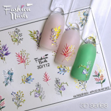 3D Слайдер дизайн Весна , Мелкие Цветы , Бутоны , Растения( 3D наклейка на ногти ) арт.3D/112