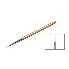 Кисточка для рисования тонких линий золотая - Кисть для ногтей NO-02YRE тонкая волосок