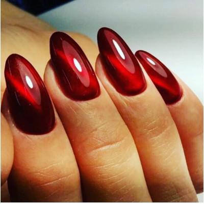 Гель-Лаки Кошачий глаз 5D City Nail №10 - красный цвет 10мл
