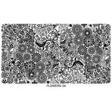 Большая Пластина для стемпинга Узоры Цветы размер 10 на 16 см Пластины для стемпинга кружево Стемпинг вензеля