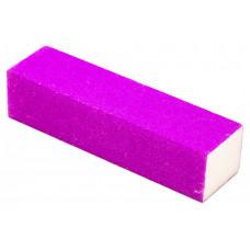 Баф для ногтей Прямоугольный цвет сиреневый ( Баф для нігтів ) Бафик полировочный четырехсторонний