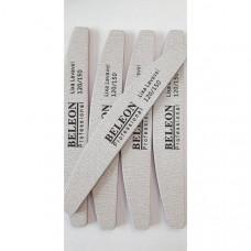 Пилка для ногтей BELEON 120/150 50шт лодочка - Пилки для ногтей профессиональные