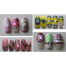 Новинка! Декор ногтей Наклейки NFC для дизайна ногтей белые Набор 2 штуки - Светодиодные ногти