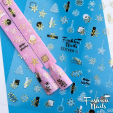 Новогодние Наклейки для ногтей 9*12см - Стикер для ногтей на липкой основе STICKER 11 Fashion Nails
