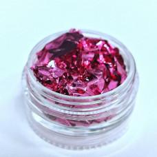Фольга жатая розовая Сусальное золото для дизайна ногтей Поталь для ногтей Фольга жатая - Фольга Жатка Потель