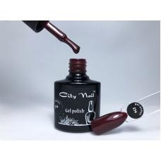 Бордовый гель-лак с микроблестками CityNail 234 - Гель-лак Вишневый с Шиммером - Гель Лак Винный Цвет 10