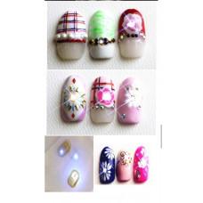 Декор ногтей Светодиодный стикер для ногтей NFC 1 штука - Материалы для дизайна ногтей наклейки для ногтей Красный