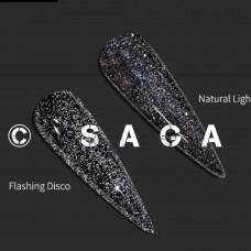 ГЕЛЬ-ЛАК SAGA FIERY GEL №02, 8 МЛ Гель-лаки с эффектами светоотражающими Гель-лаки с мерцанием микроблеском