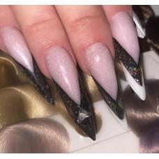 Камуфлирующий полигель для Наращивания и Укрепления Ногтей Розовый City Nail Polygel 15, №3 Светло-розовый с глиттером