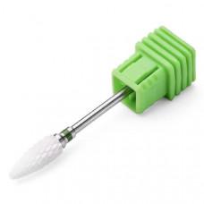 Насадка керамическая для фрезера маникюрного зеленая насечка Керамическая фреза для снятия гель лака