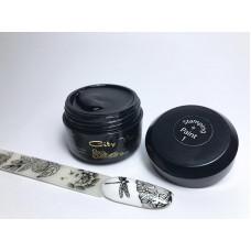 Гель краска для стемпинга STAMPING + PAINT 8малиновая ( розовая ) №1 Чёрная