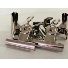 Зажим для арки металлический маникюрный, 50 мм, 1 шт - Зажим прищепка для наращивания ногтей 10