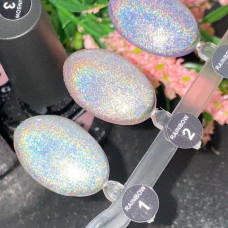 Гель-лак Saga Rainbow Призма №2 (розово-серебристый, с микроблеском) 8мл - Голографические Гель Лаки