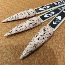 Saga топ без липкого слоя Geometry 2, 8 ml  Финишное покрытие с белой крошкой для гель-лака для дизайна ногтей Перелиное Яйцо