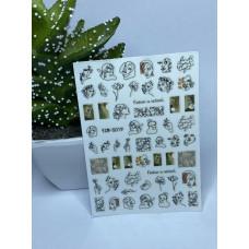 Слайдер -дизайн Лицо Девушки Руки Силуэт на клейкой основе - Наклейки для ногтей