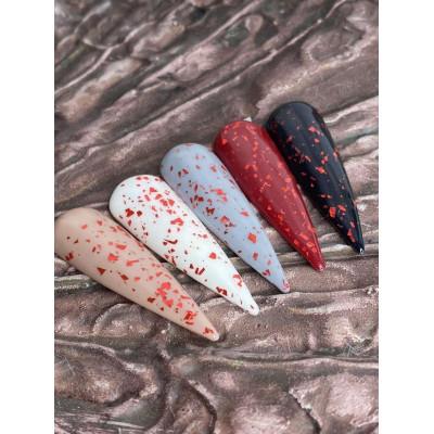 Топ с красными вкраплениями LEAF RED без липкого слоя ТМ Saga 8мл