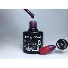 Термо гель-лак фиолетовый при нагревании вишневый CityNail 13