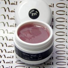 Акригель Acrylic Gel CityNail 211 натуральный розово-бежевый для наращивания и укрепления ногтей 50ml, Розовый