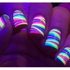 Неоновая гель краска для ногтей City Nail Н7 фиолетовая