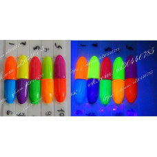 Неоновая гель-краска для ногтей Н1 красная