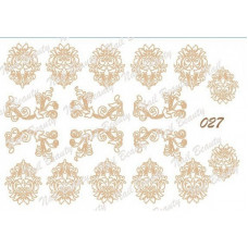 Трафарет для гель пасты для дизайна ногтей №27