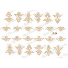 Трафарет для гель пасты для дизайна ногтей №01