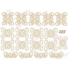Трафарет для гель пасты для дизайна ногтей №23