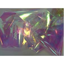 Битое стекло для ногтей - Белая радуга