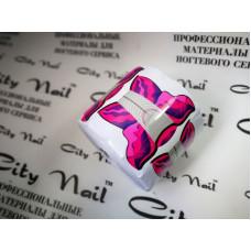 Форма для наращивания ногтей Бабочка 300штук Рулон