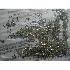 Декор для ногтей камни микс разные размеры 100штук