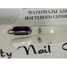 Зеркальная втирка для ногтей Хамелеон фиолетовая