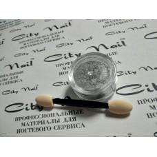 Втирка для ногтей Металлик серебро