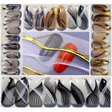 Набор для дизайна ногтей - наклейки нити переплетения для ногтей- 3 штуки